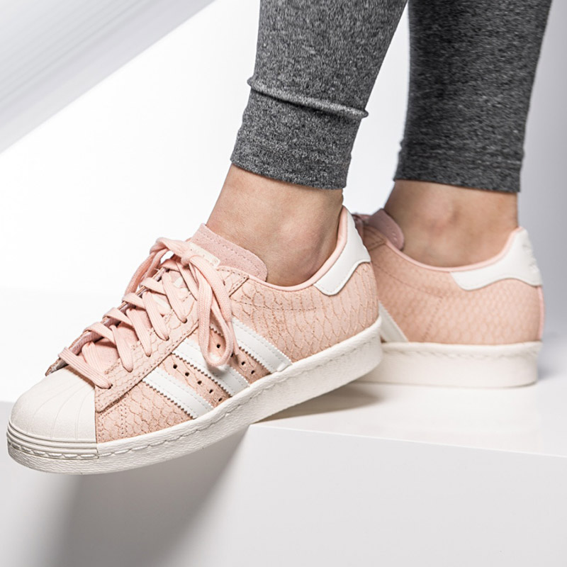 adidas superstar 80s w rosa leder damen sneaker schuhe. Black Bedroom Furniture Sets. Home Design Ideas