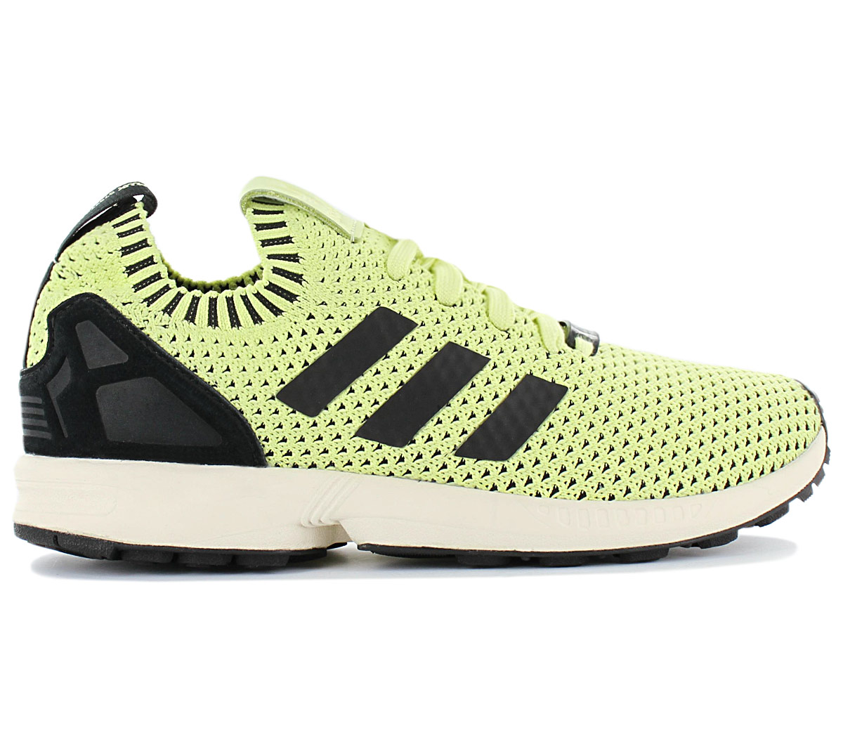 Details about Adidas Originals Zx Flux Pk Primeknit Sneaker S75975 Yellow Black Shoes New