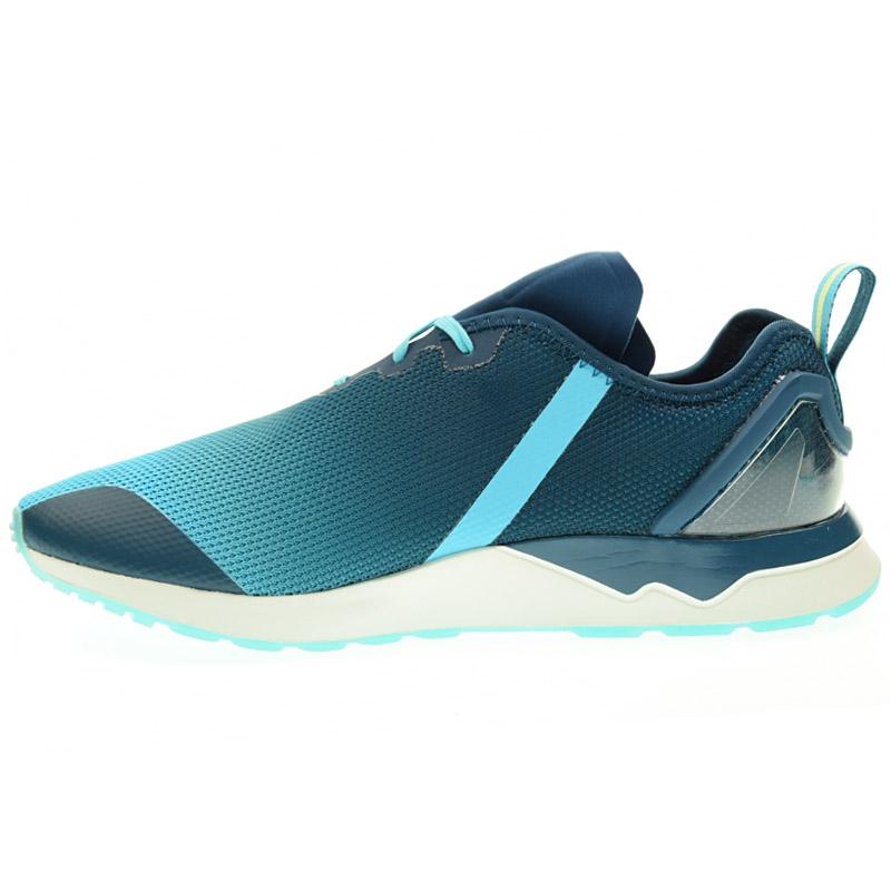 Adidas Originals Zx Flux Adv Asymmetrical Men s Sneakers Shoes Blue ... 4b9eb6d87c