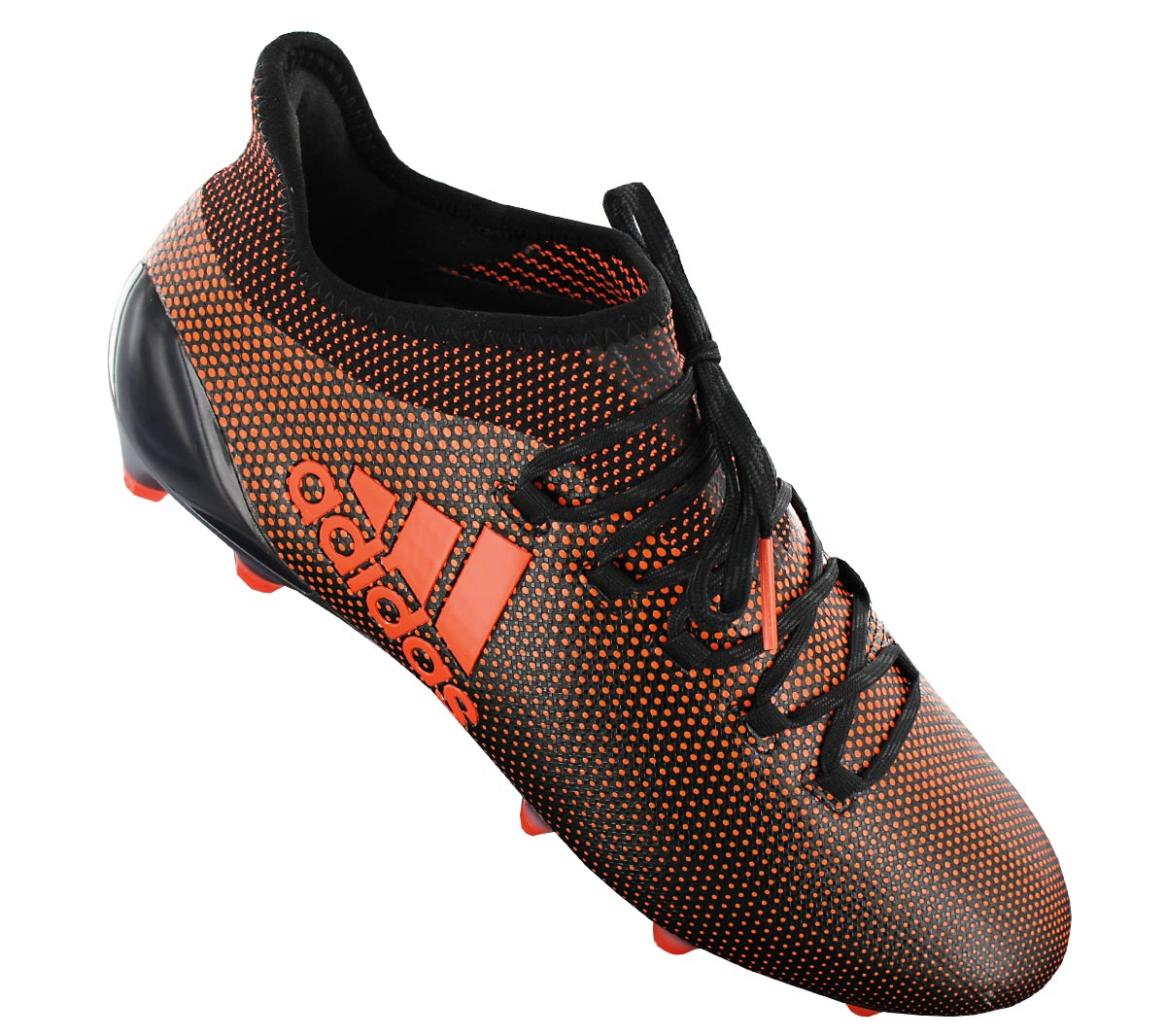 detailed look 4bcf9 4306f Details about Adidas x 17.1 Fg Men's Cleats Football Shoes Black Orange Ace  S82288 New