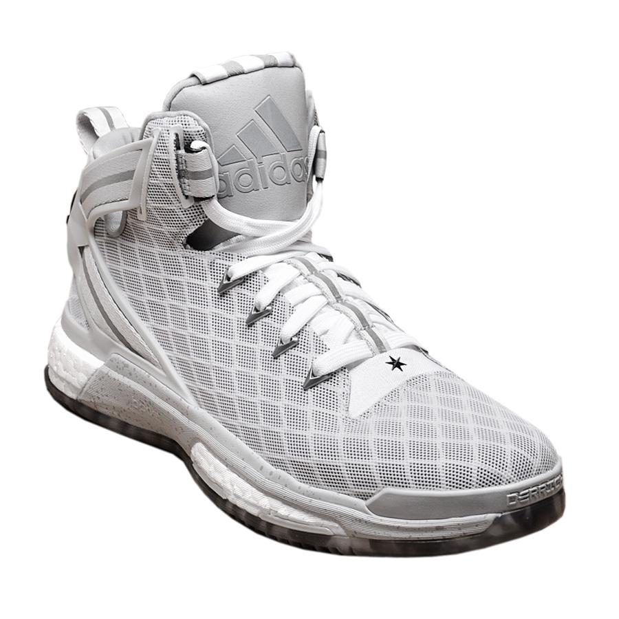 adidas Derrick D Rose 6 BOOST Shoes White-Grey Men's ...