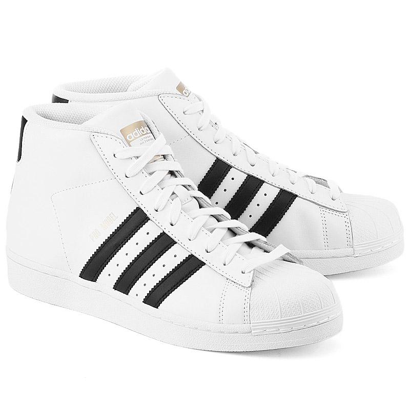 adidas pro model leather mens sneaker white black leather. Black Bedroom Furniture Sets. Home Design Ideas