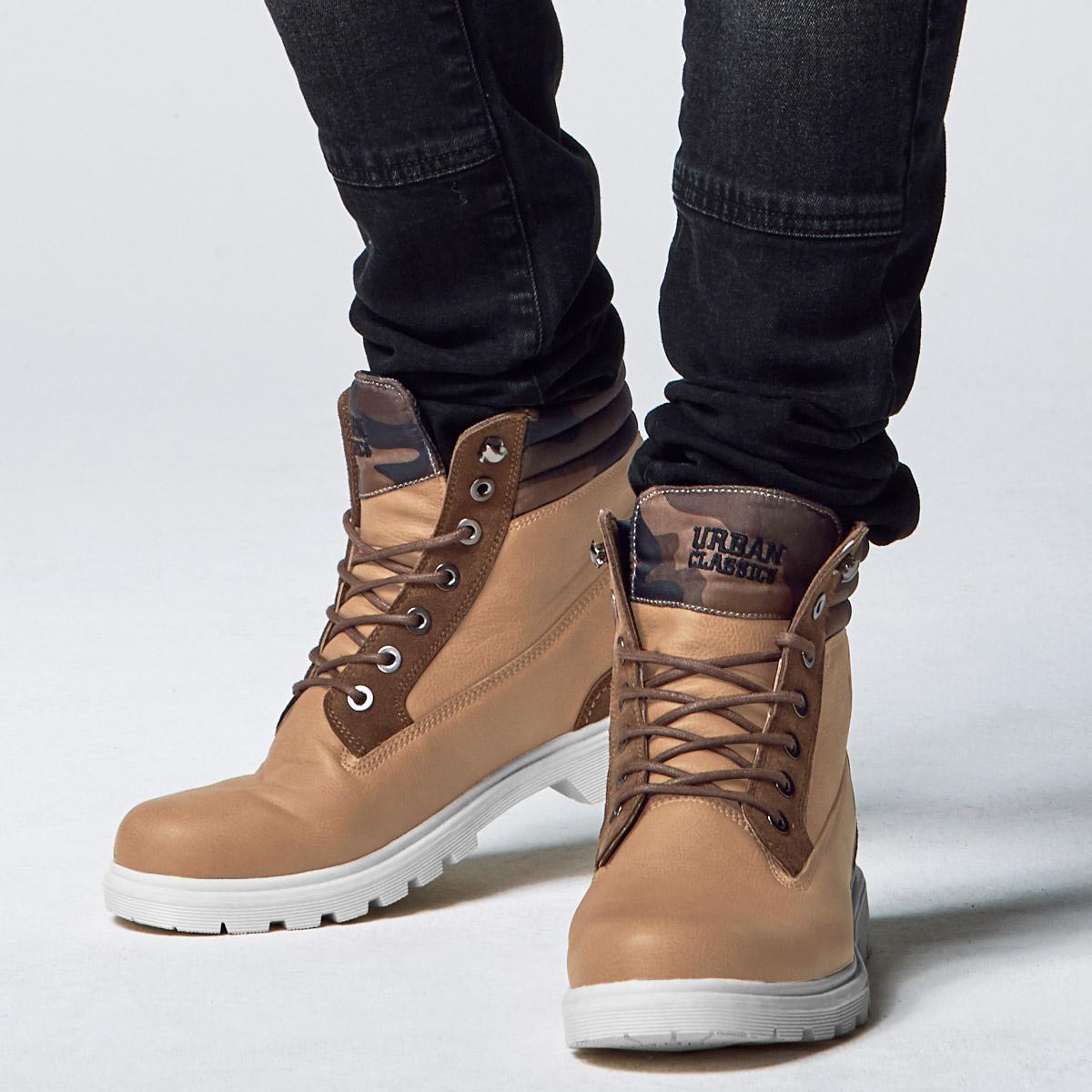 Urban Classics Winter Boots Beige Men's Boots Winter shoes
