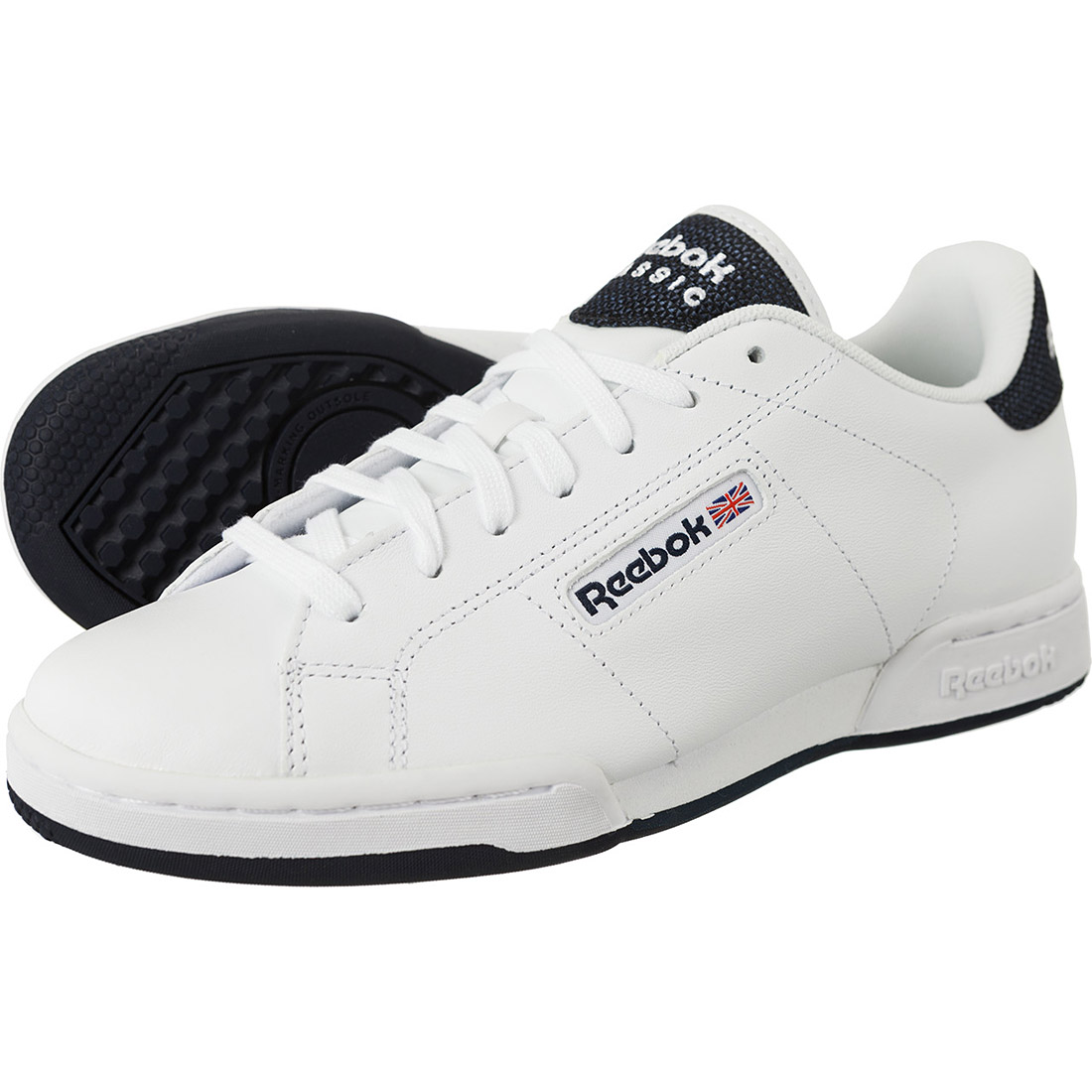 1d496ab299 Reebok Herren Sneaker Classic NPC Rad Pop Schuhe Weiß Leder ...