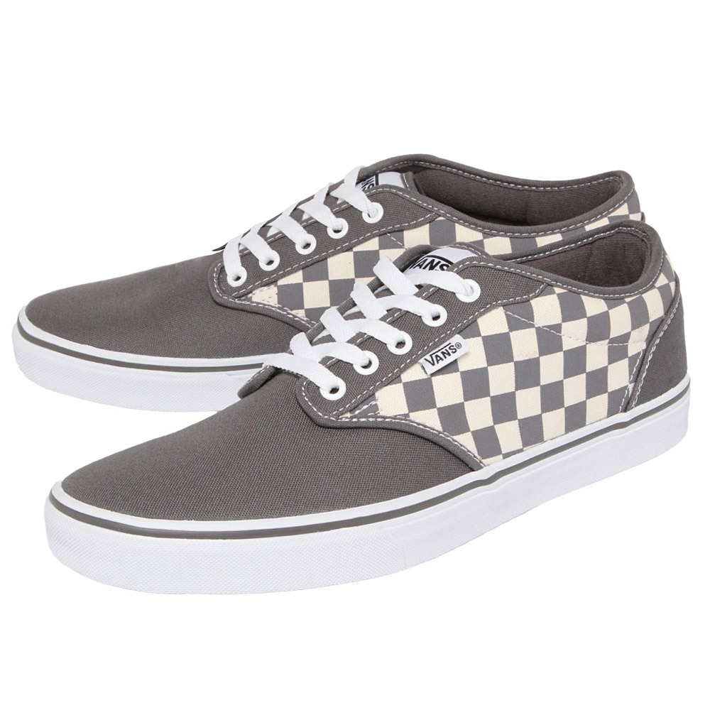 71524c96c7 Vans Atwood Shoes Grey Men s Sneakers Canvas Textile Gym Shoe New ...
