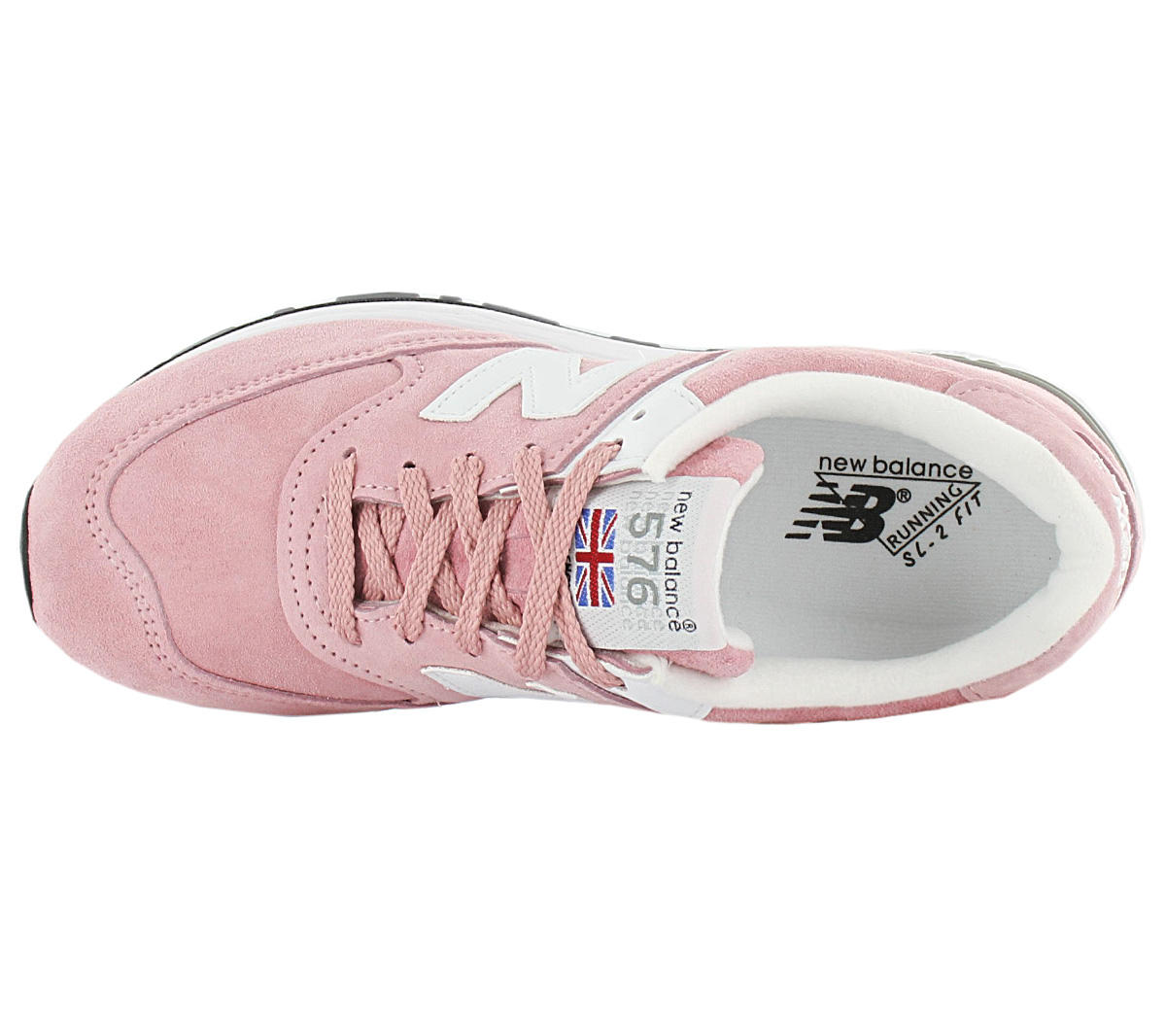 free shipping 34c98 aa689 Details about New Balance 576 - Made in England - W576PNK Women's Sneakers  Leather Shoes